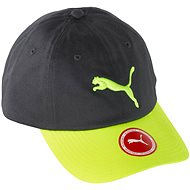 Puma ESS Cap Asphalt-Safety Yellow-B.CAT_BLOC Kids