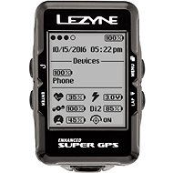 Lezyne Super GPS HR Loaded Black - GPS cyklocomputer