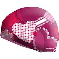 Spokey Stylo Junior růžová se vzorem srdce - Čepice