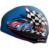 Spokey Stylo Junior modrá se vzorem závodní auto - Čepice