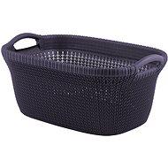 Curver koš na čisté prádlo Knit 47L fialový - Koš na prádlo