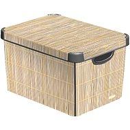 Curver Decobox - L - Bamboo - úložný box