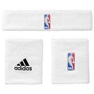 Adidas NBA Wristband prus Headband White Youth - Sada