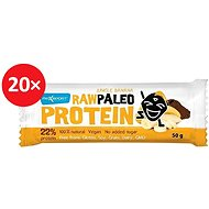 MAX SPORT RAW PALEO PROTEIN Jungle Banana 20 ks - Proteinová raw tyčinka