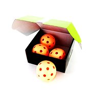 Unihoc míček Crater WFC orange 4-pack - Florbalový míč