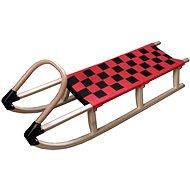Acra hölzernen Schlitten mit Riemen 125 cm rot - Schlitten