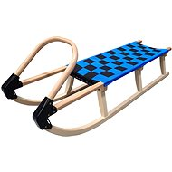 Acra wooden sled with straps 125 cm blue - Sledge