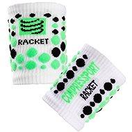 COMPRESSPORT wristband white/green - Sportaccessoires