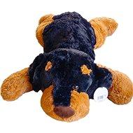 Dunkler Spielzeughund 90 cm - Plüschspielzeug