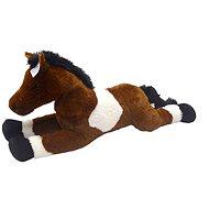 Kůň bílo/tm hěndý 80 cm - Plyšová hračka