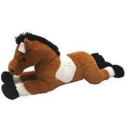 Pferd weiß / braun 80 cm - Plüschspielzeug