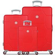Suitsuit TR-1243/3 ABS Caretta Fiery Red - Sada cestovních kufrů
