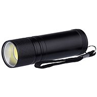 Emos kovová, 3W COB LED, na 3x AAA černá - Svítilna LED