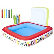 Inflatable and drawing pool - 132x132x81 cm - Inflatable Pool