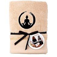 Sleep well 50×100cm/výšivka jóga - rovnováha/béžový - Ručník
