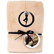 Schlaf gut 50 × 100 cm / Stickerei Yoga - Baum / beige - Handtuch