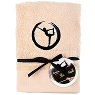 Sleep well 50 × 100cm / embroidery yoga - dancer / beige - Towel