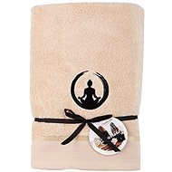 Sleep Well 70x140cm / Stickerei Yoga - Balance / beige - Handtuch