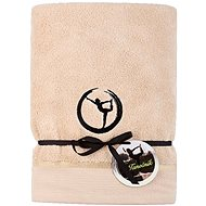 Sleep well 70x140cm/Yoga Embroidery-beige/black - Towel