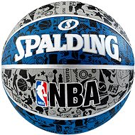 NBA Graffiti Outdoor sz.7 blue - Basketbalový míč