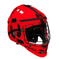 Unihoc maska Shield neon red/black - Helma