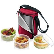 Tescoma Freshbox Lunch-Box mit 3 jar 0,8 l, 892,210.00 bordeaux - Speisebox