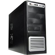 EUROCASE MiddleTower 5435 Black-silver 400W Fortron