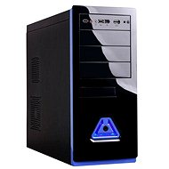 EUROCASE MiddleTower 5485 Black-blue 400W Fortron