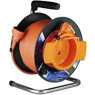 PremiumCord predlžovací kábel 230V 25m bubon, oranžový - Kábel