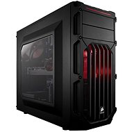 Corsair SPEC-03 Red LED Carbide Series black with transparent side panel