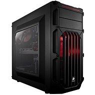 Corsair SPEC-03 Rote LED Carbide Series schwarz mit transparenten Seiten