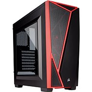 Corsair SPEC-04 Black/Red Carbide Series červená/černá s průhlednou bočnicí