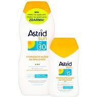 ASTRID SUN Hydratační mléko na opalování SPF 30200 ml+ Hydratační mléko na opalování SPF 15100 ml - Sada