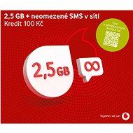 Vodafone neomezené volání a sms do sítě Vodafone + 500MB dat - SIM karta