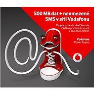 Vodafone neomezené sms do sítě Vodafone + 500MB dat - SIM karta