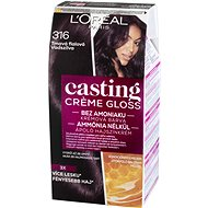 Loreal CASTING Creme Gloss 316 Tmavá fialová - Farba na vlasy