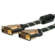 ROLINE Gold DVI dual link, ferity, 7.5m - Video kabel