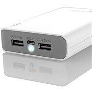 Gogen Power Bank 10000 mAh white-gray
