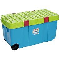 Wham Box s víkem a kol. 100l modrý 11883