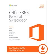 Microsoft Office 365 Personal Subscription - 1 year - E-license