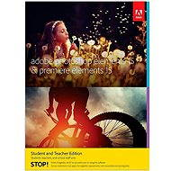 Adobe Photoshop Elements 15 + Premiere Elements 15 CZ Student & Teacher