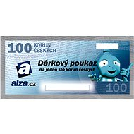 Elektronický dárkový poukaz Alza.cz na nákup zboží v hodnotě 100 Kč