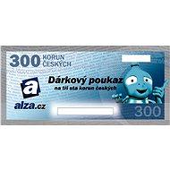 Elektronický dárkový poukaz Alza.cz na nákup zboží v hodnotě 300 Kč