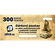 Elektronický dárkový poukaz Alza.cz na nákup e-knih a audioknih v hodnotě 300 Kč