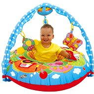 Baby playpen with bar