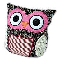Hoot - Eule Patchwork-rosa