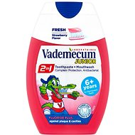 VADEMECUM Junior 2v1 Toothpaste + Mouthwash Strawberry Flavor 75 ml