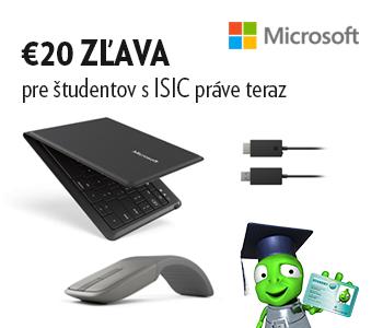 ISIC zľava 20 EUR na vybrané príslušenstvo Microsoft