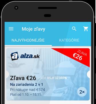 alza aplikace voucher