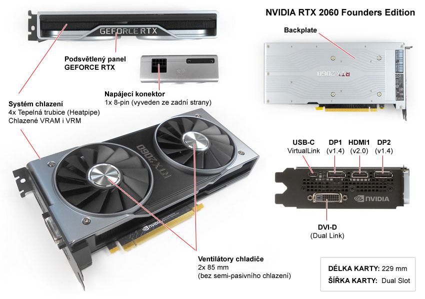 Popis grafické karty NVIDIA RTX 2060 Founders Edition